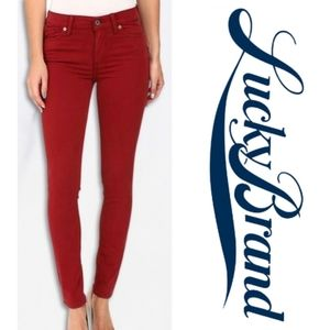 Sexy red patterned designer jeans 4/27